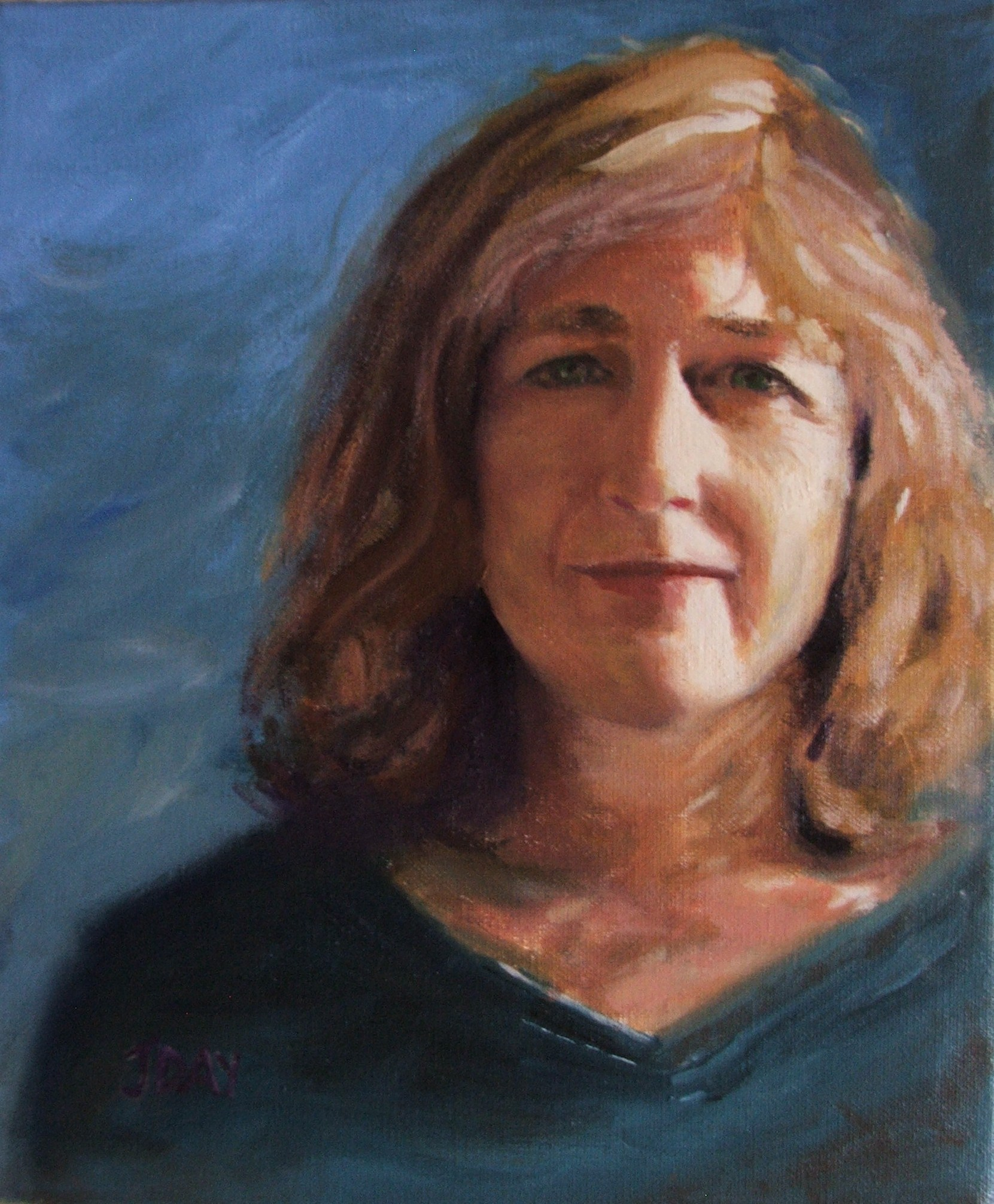 Wetcanvas portrait swap! Portrait painted with Genesis artist heat-set oil colors