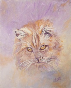 The Cat an Oil Painting