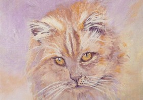 SOLD The Cat – Oil Painting