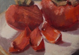 SOLD Persimmons – Alla Prima Still Life Painting!