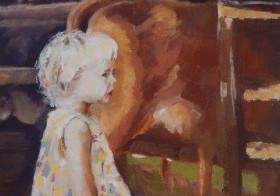 Little Girl Visiting the Dairy