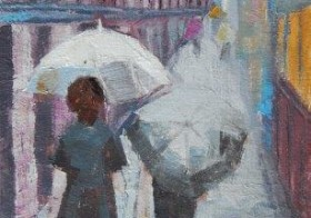 'Rainy Day Walk' (sold)